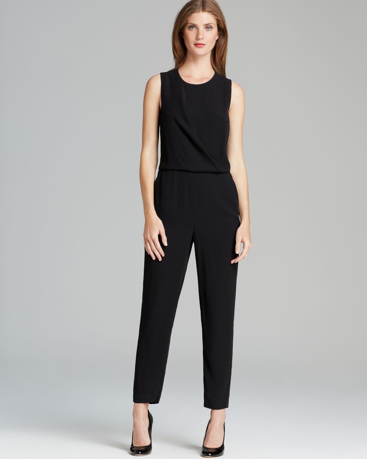 e5957846cd2d Lyst theory jumpsuit daimine register in black jpg 1200x1500 Theory jumpsuit