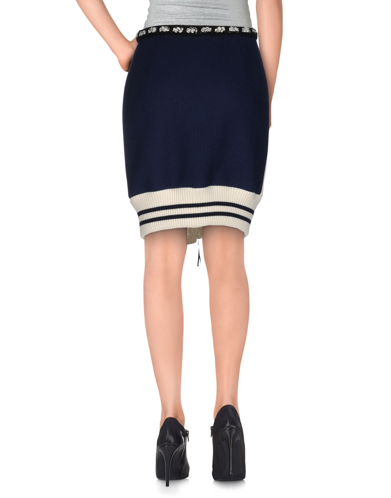 moschino couture knee length skirt in white lyst