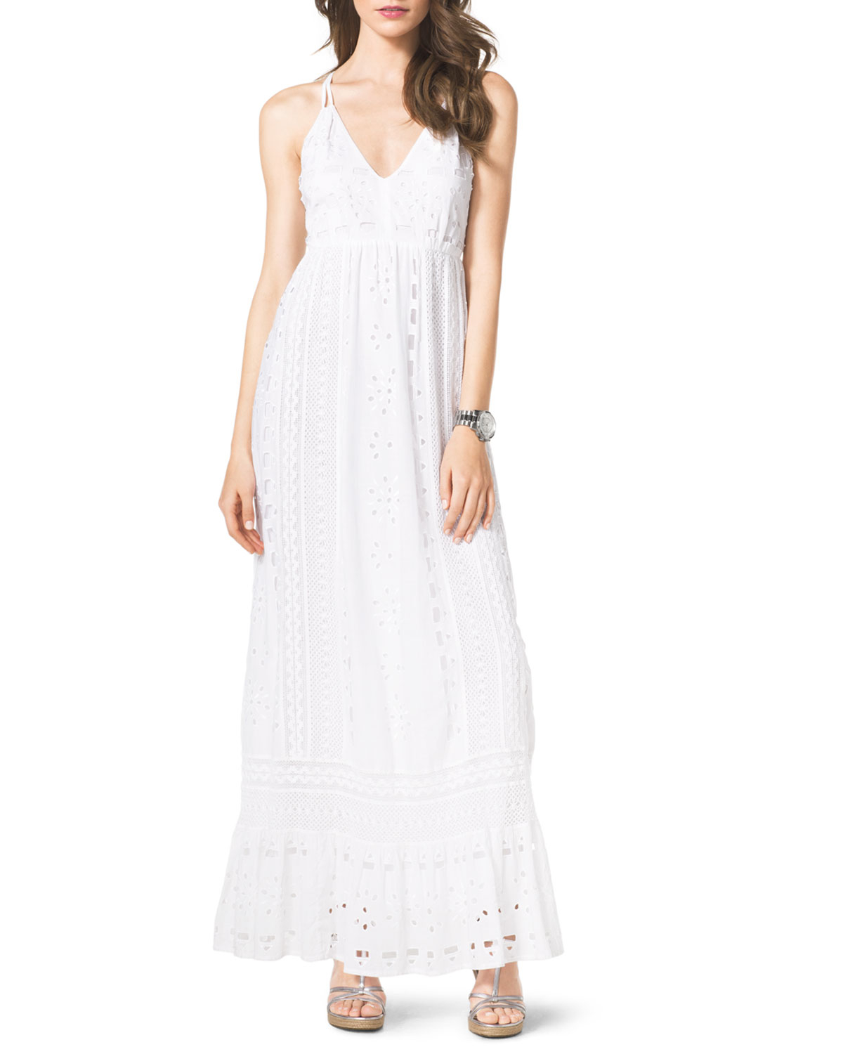 White Cotton Maxi Dress