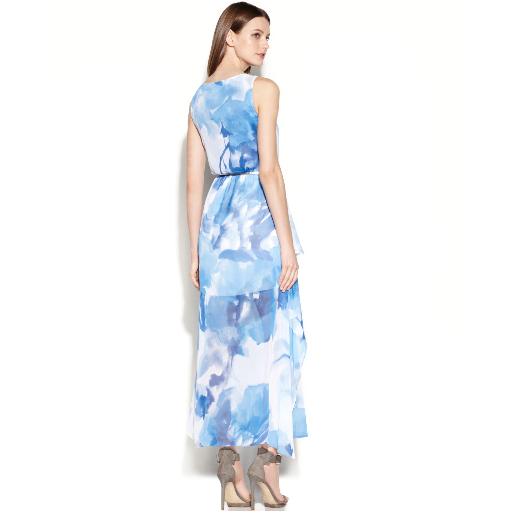 Calvin klein blue maxi dress