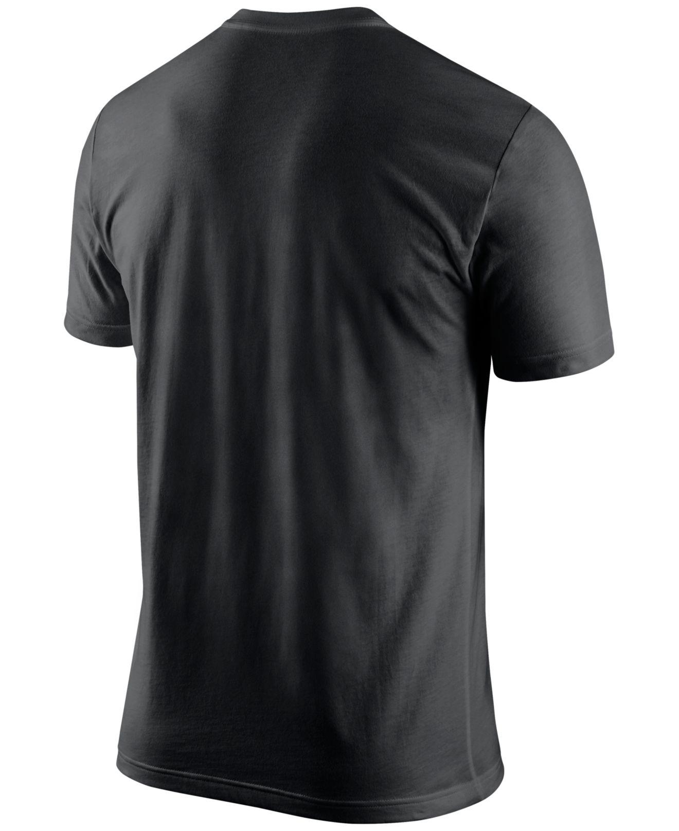 Nike men 39 s new orleans saints team stripe t shirt in black for T shirt printing new orleans