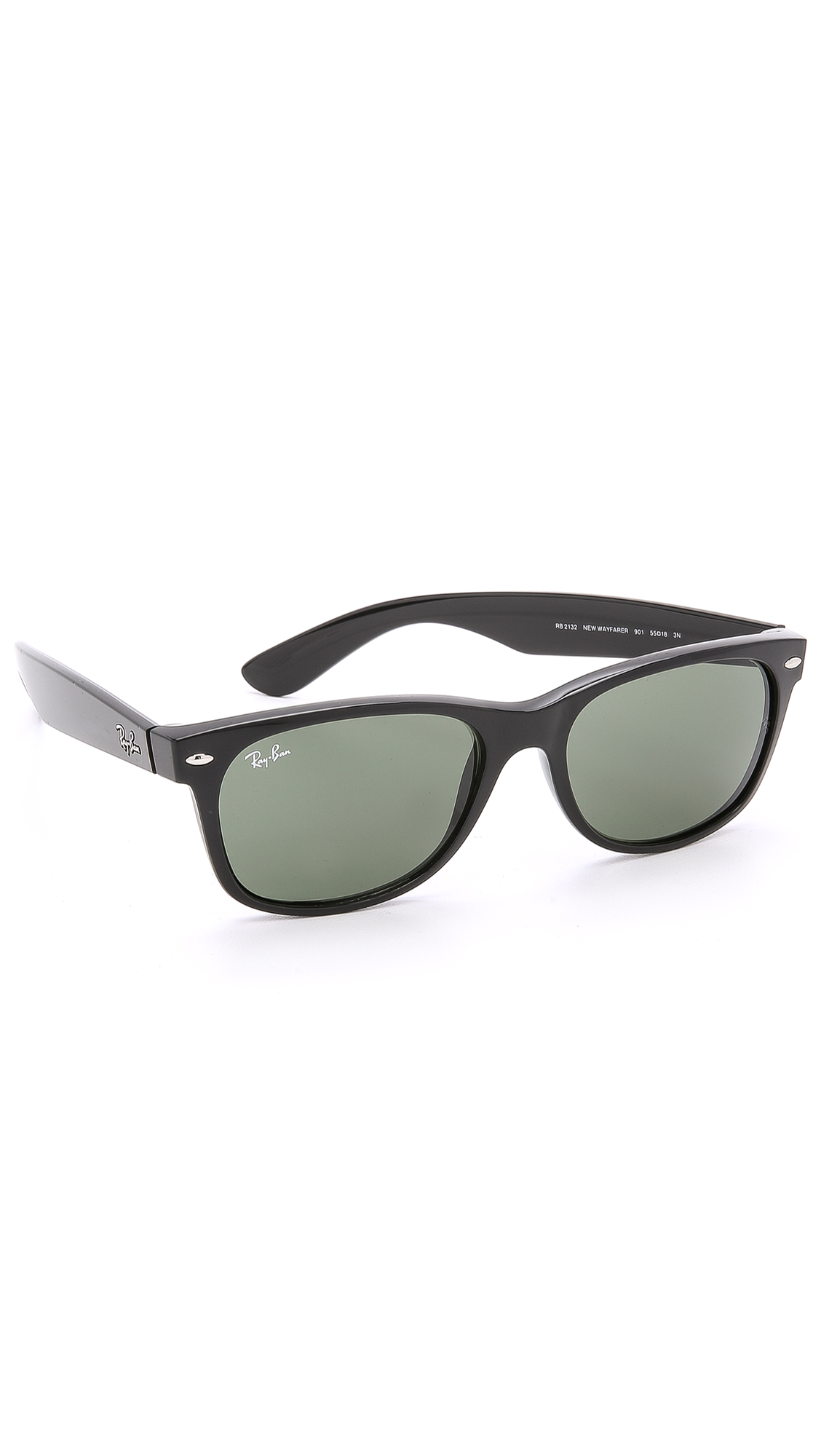 ray ban new wayfarer sunglasses in black for men black. Black Bedroom Furniture Sets. Home Design Ideas