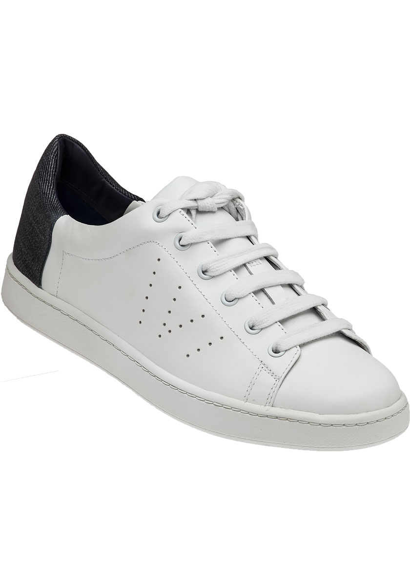 Lyst Vince Varin White Leather Lace Up Sneaker In White