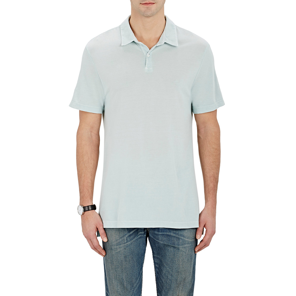 Lyst James Perse Pique Polo Shirt In Green For Men