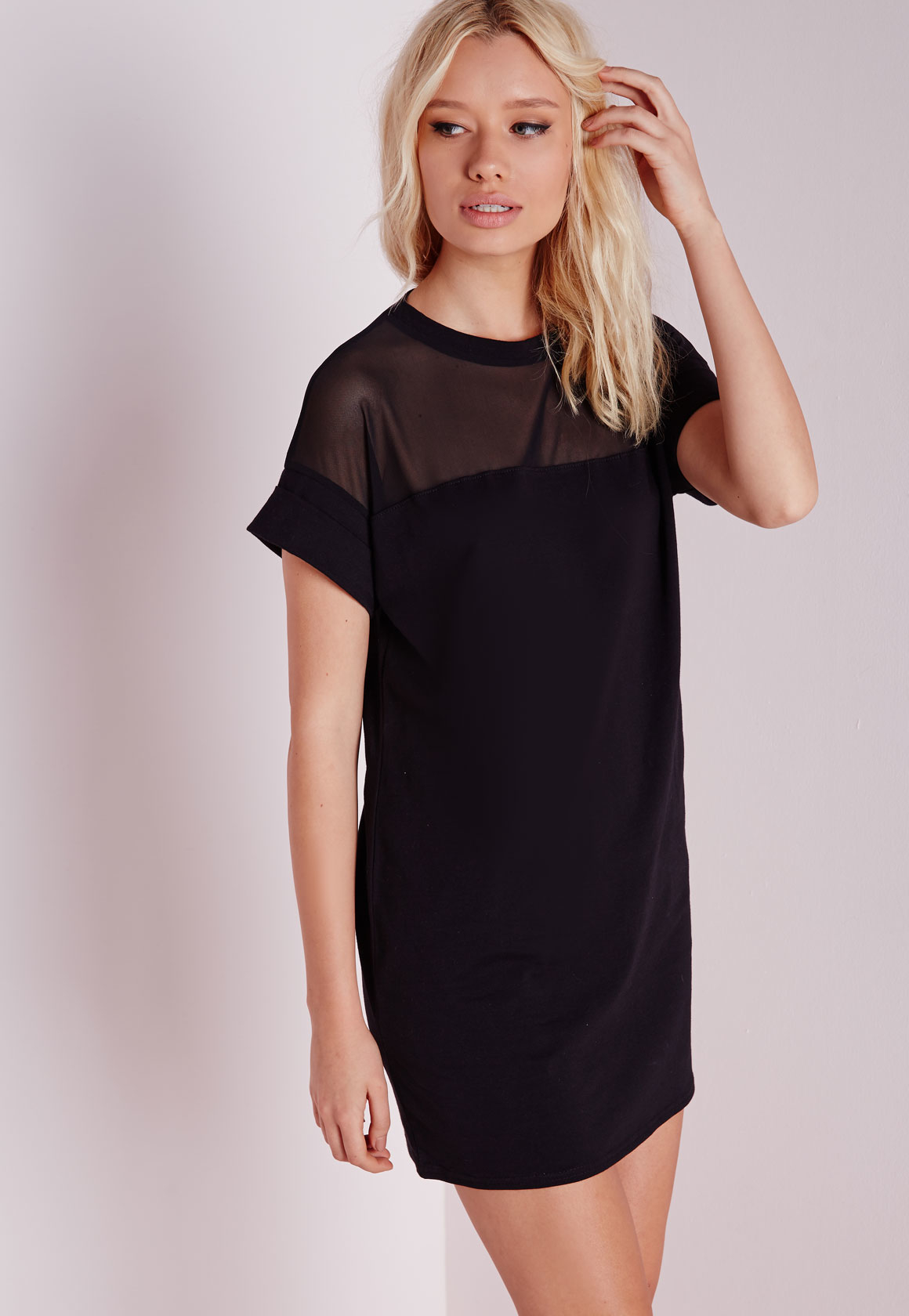 Mesh T-Shirt Dresses