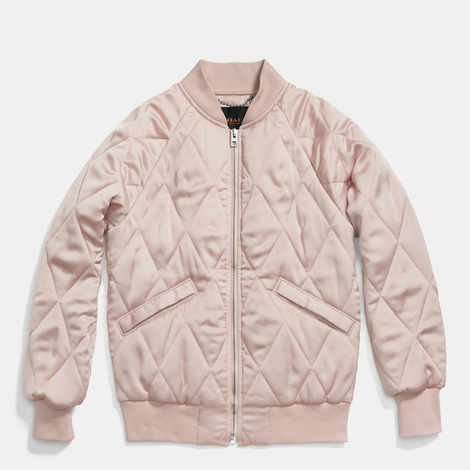 Coach Quilted Blouson Jacket in Pink | Lyst : coach quilted coat - Adamdwight.com