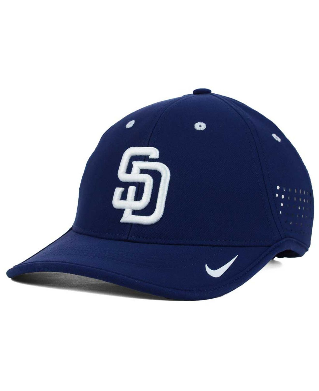 check out 29b57 57c33 ... real lyst nike san diego padres vapor swoosh adjustable cap in blue for  men c8686 61365