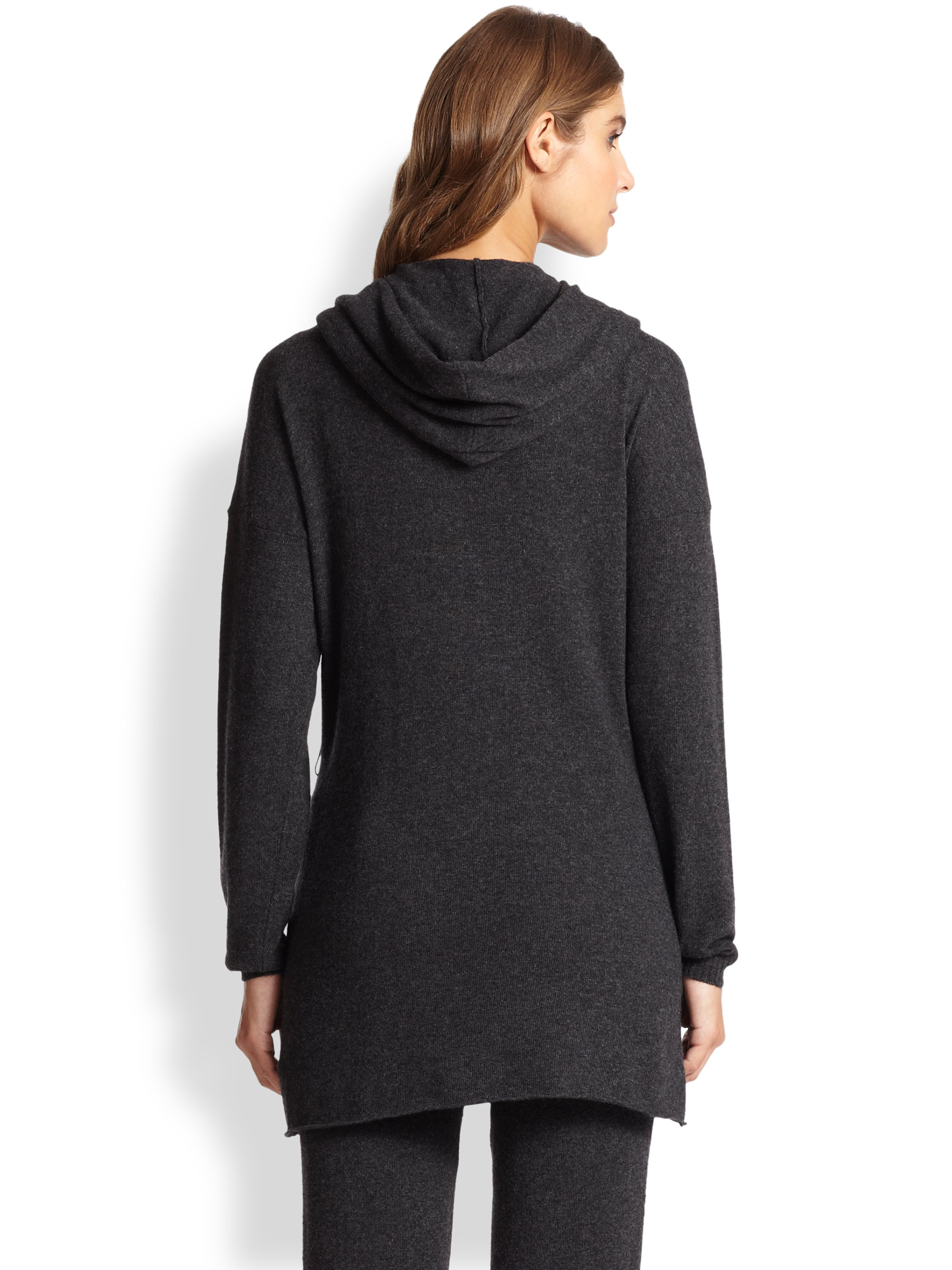 Hanro Crosby Wool-blend Hooded Cardigan in Gray | Lyst