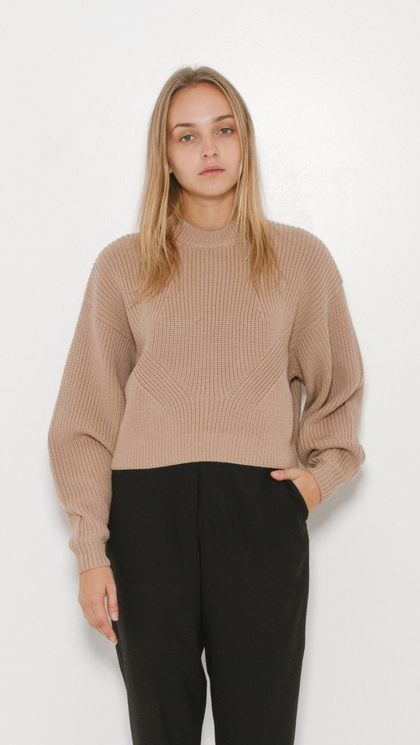Designers remix Vato Roud Crop Sweater in Natural | Lyst