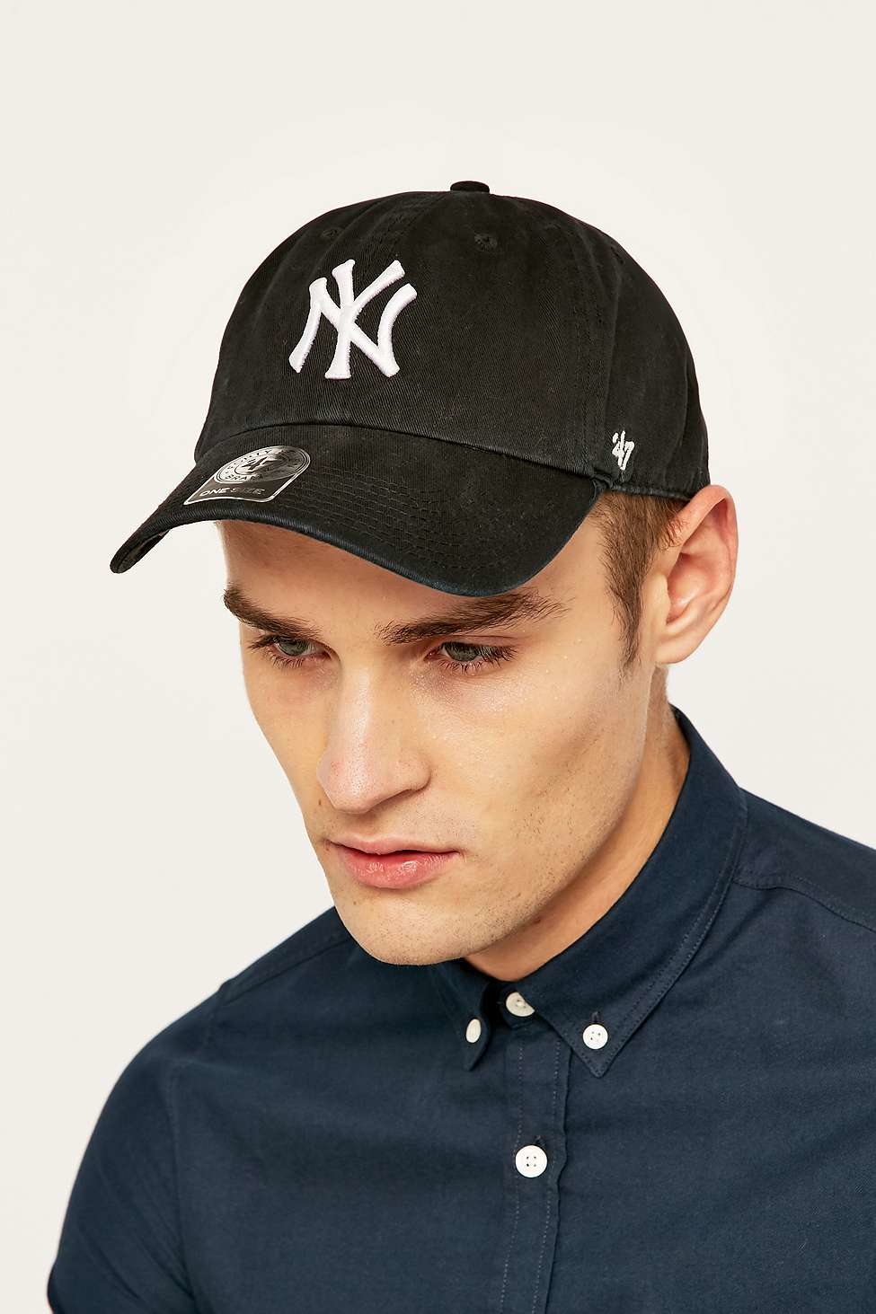 47 Brand Mlb Ny Cleanup Cap In Black For Men Lyst