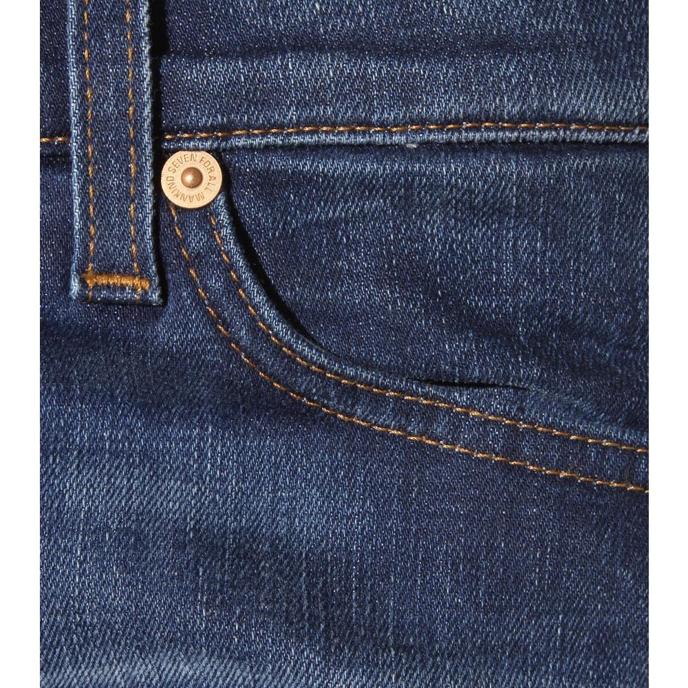7 for all mankind cristen skinny jeans in blue lyst. Black Bedroom Furniture Sets. Home Design Ideas