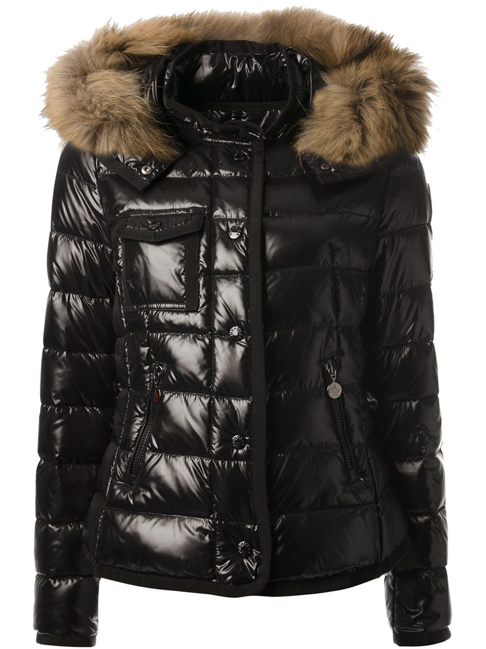 moncler shiny black