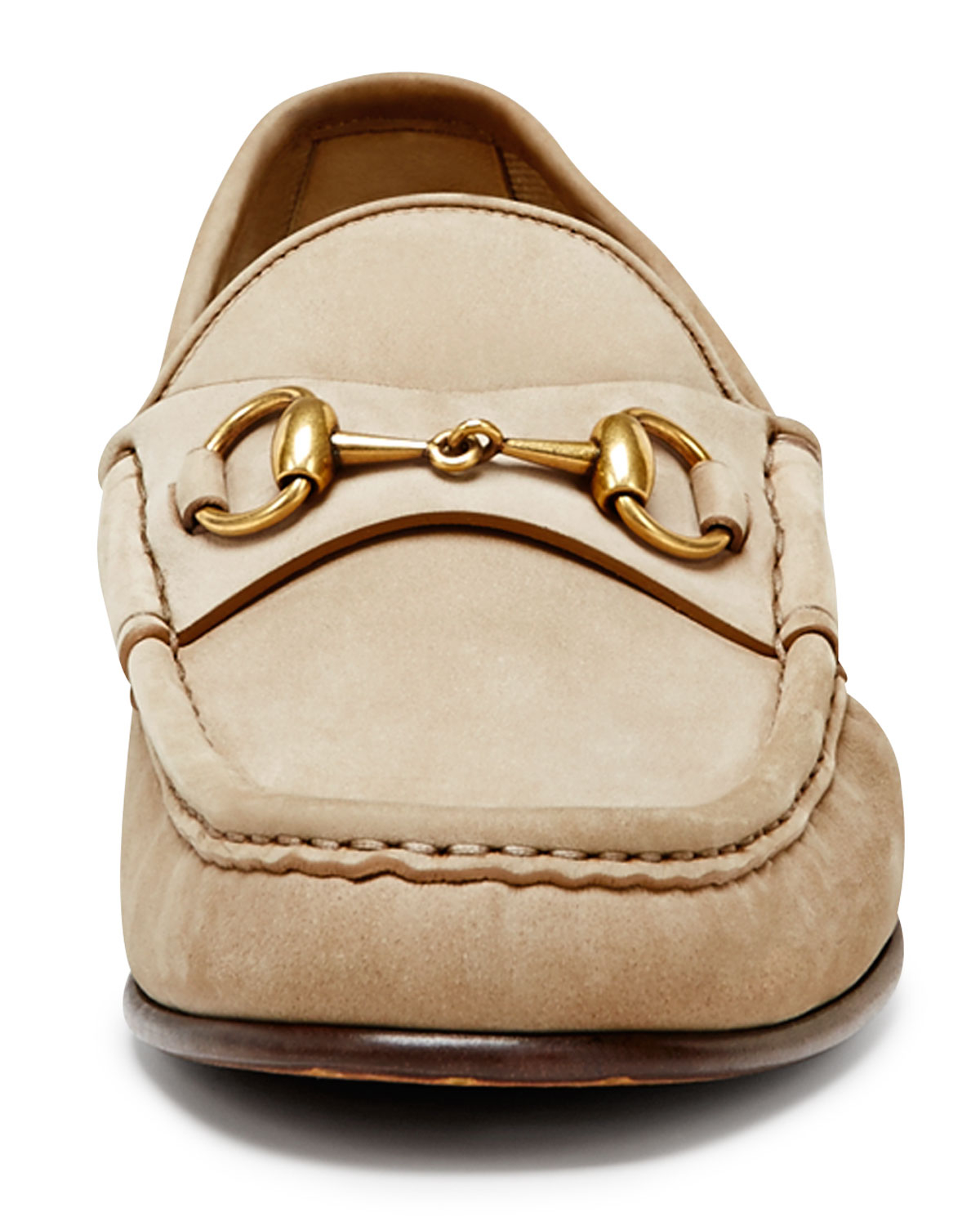 9f14d1ca31a Lyst - Gucci Roos 1953 Suede Horsebit Loafer in Natural for Men