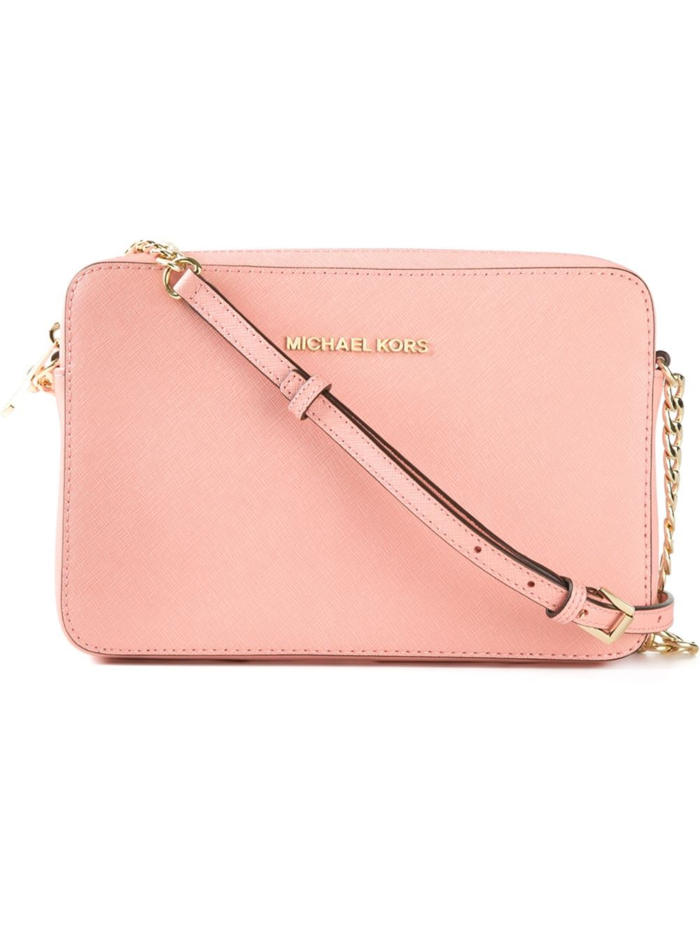 3170540856ec MICHAEL Michael Kors Jet Set Travel Cross-Body Bag in Pink - Lyst