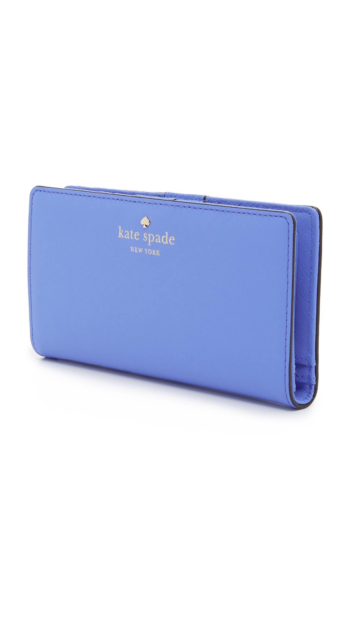 b02ca3115565b Lyst Kate Spade Cedar Street Stacy Wallet In Blue