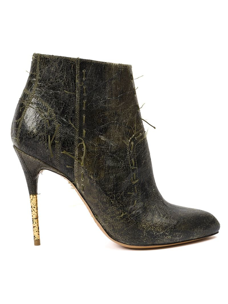 maison margiela distressed ankle boots in black lyst