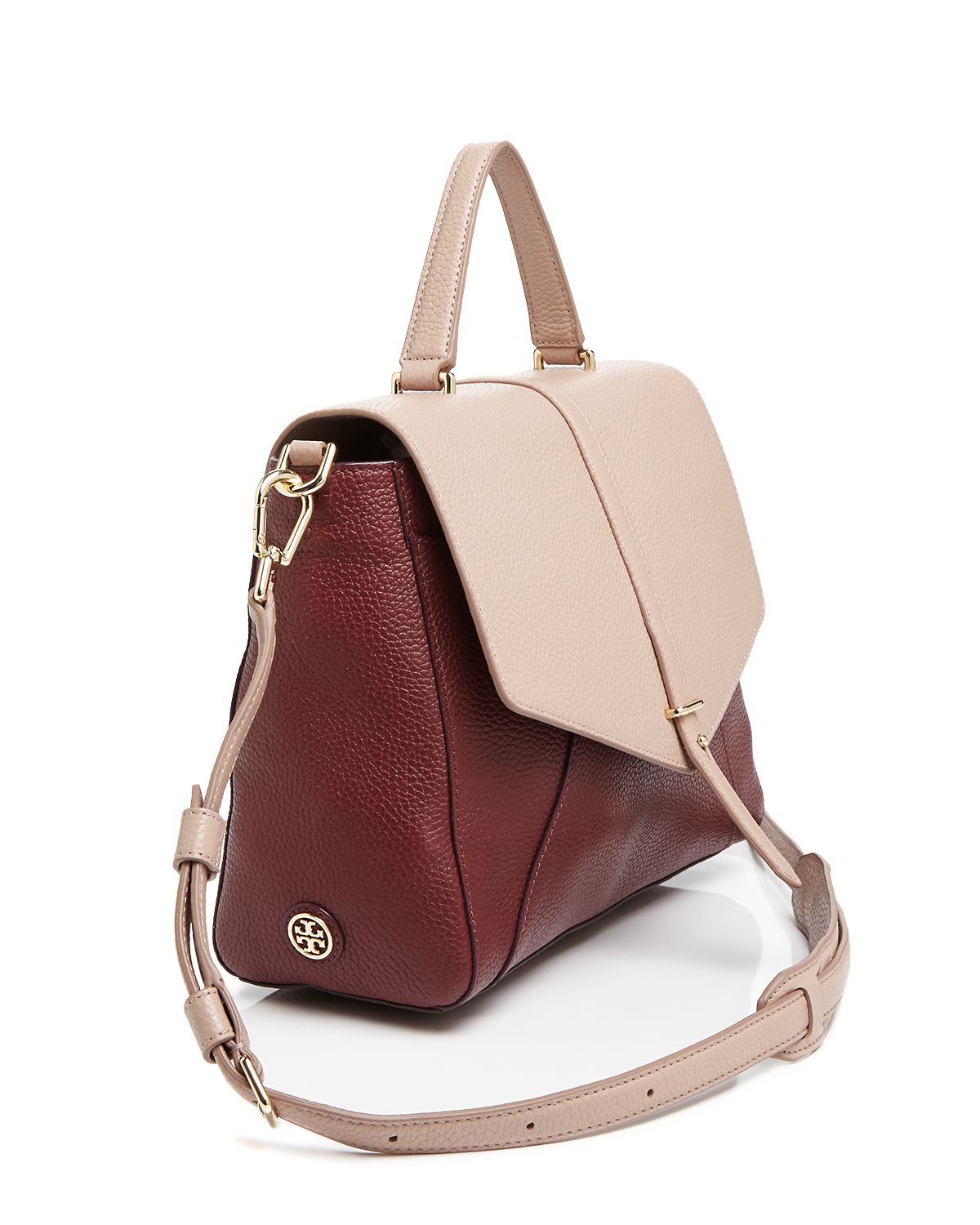 64411bd65e13 Lyst - Tory Burch 797 Color-Blocked Satchel in Natural