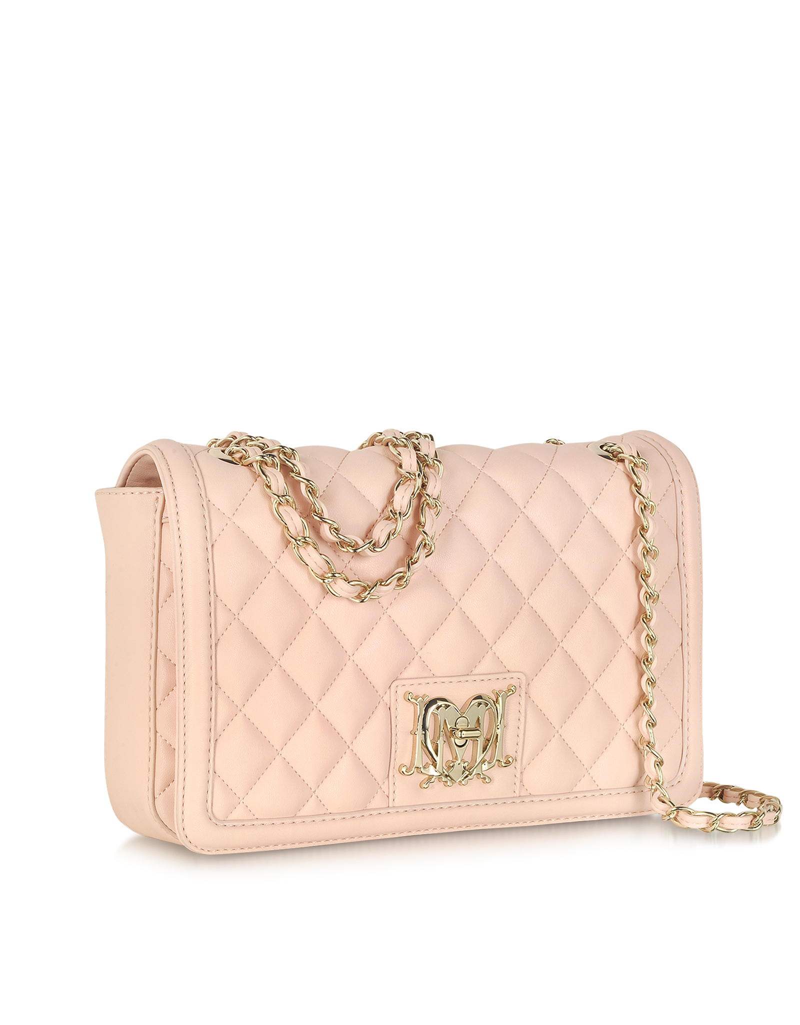 Moschino Powder Pink Quilted Eco Leather Shoulder Bag in Pink | Lyst