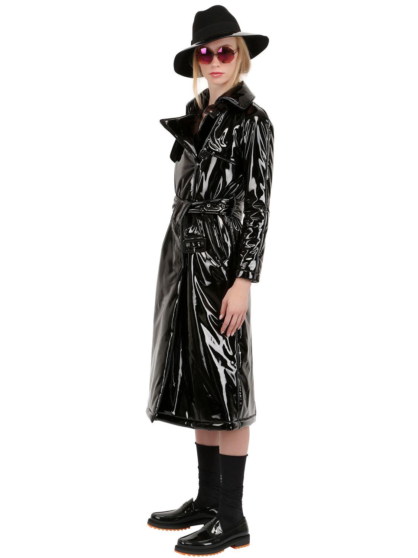 Lyst Wanda Nylon Wanda Vinyl Trench Coat In Black