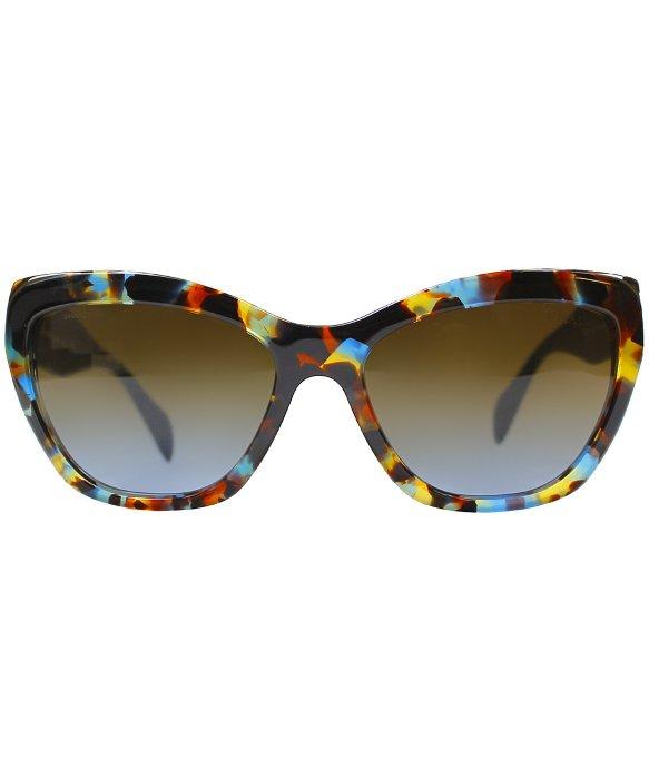 4d0af81a3fd6 ... best price lyst prada pr 02qs nag0a4 blue red fantasy cat eye sunglasses  14e46 2af60