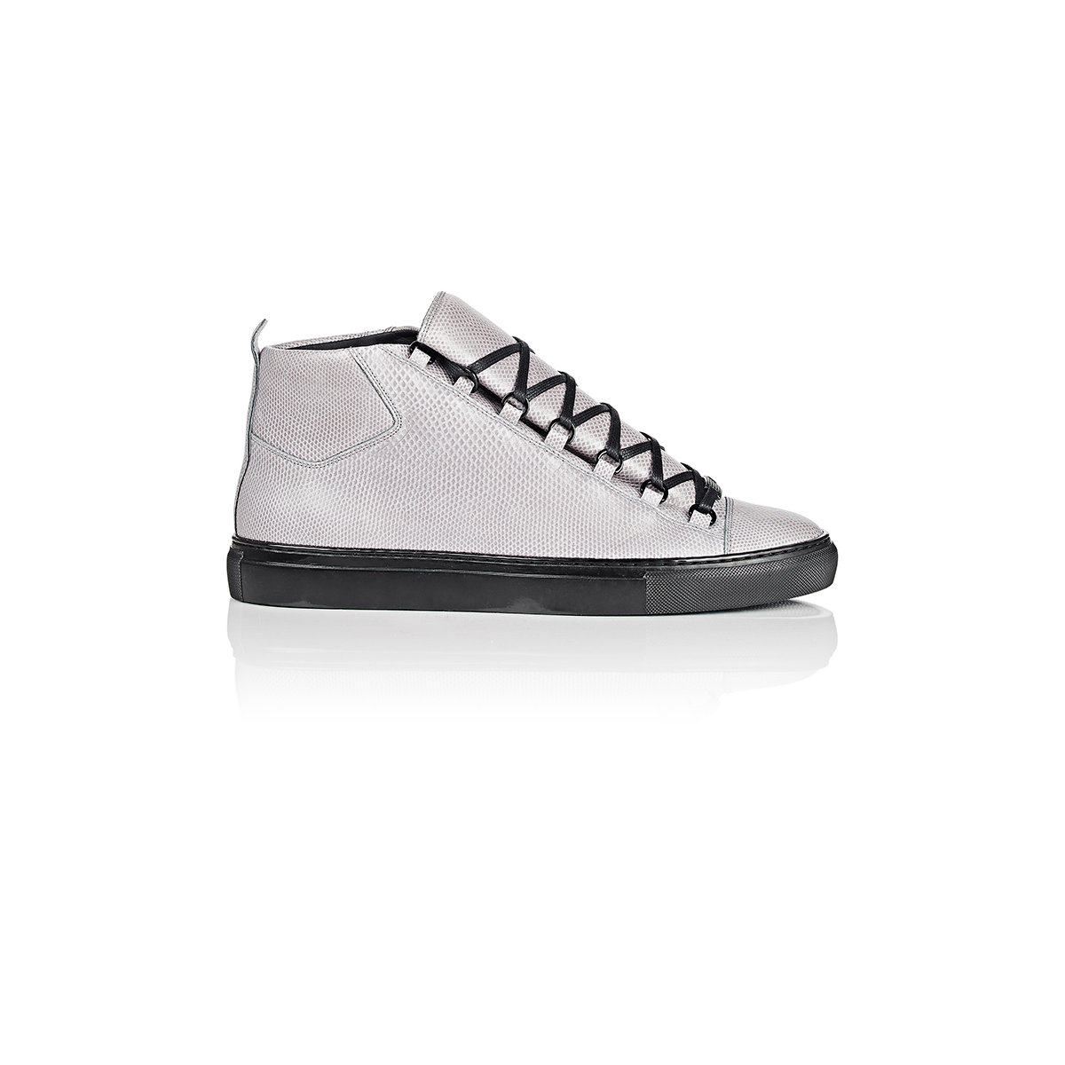 3477c7aef91b Lyst - Balenciaga Snakeskin Arena High-top Sneakers in Gray for Men
