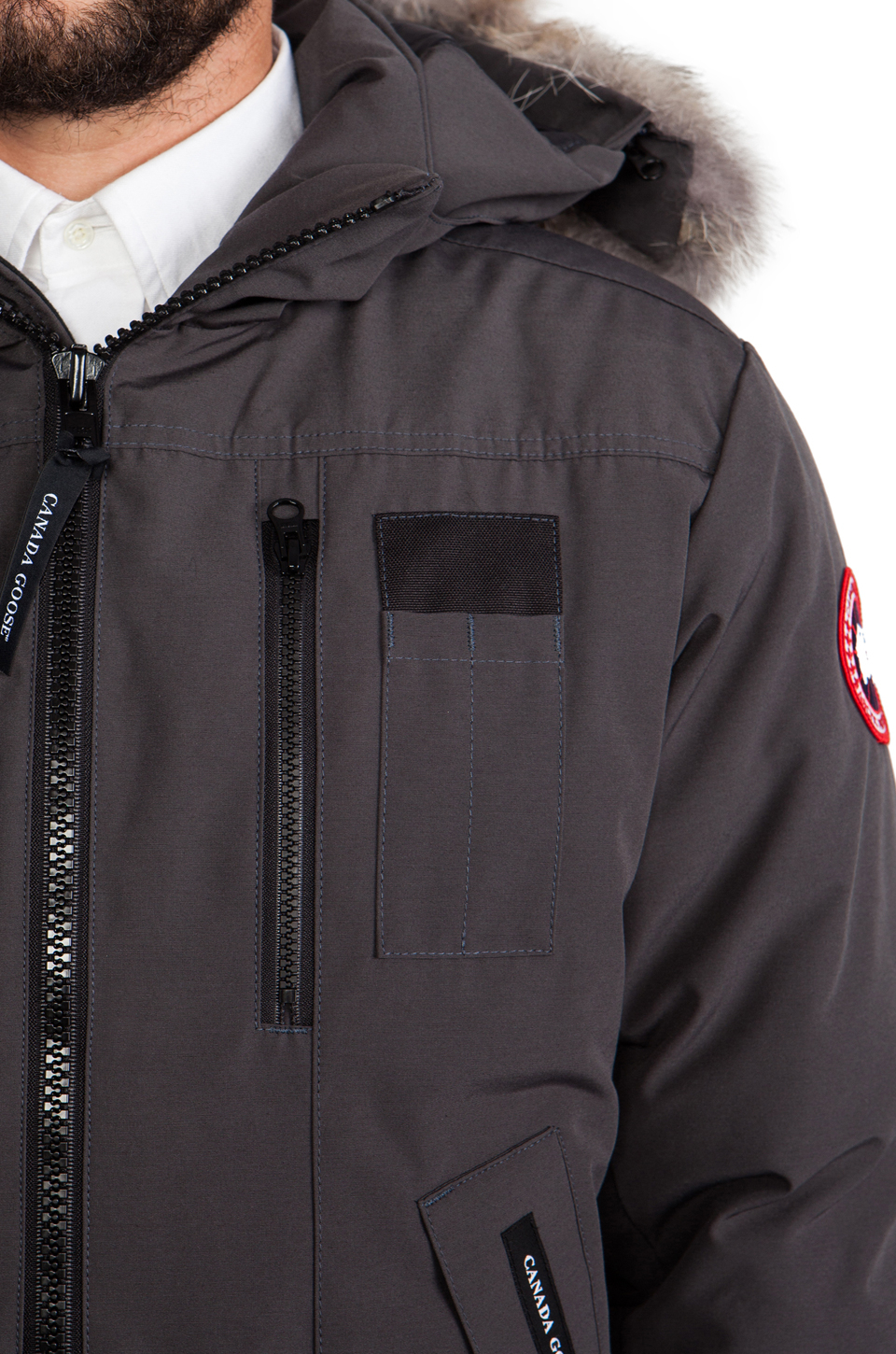 f9a864bb97e Lyst - Canada Goose Borden Bomber in Gray in Gray for Men