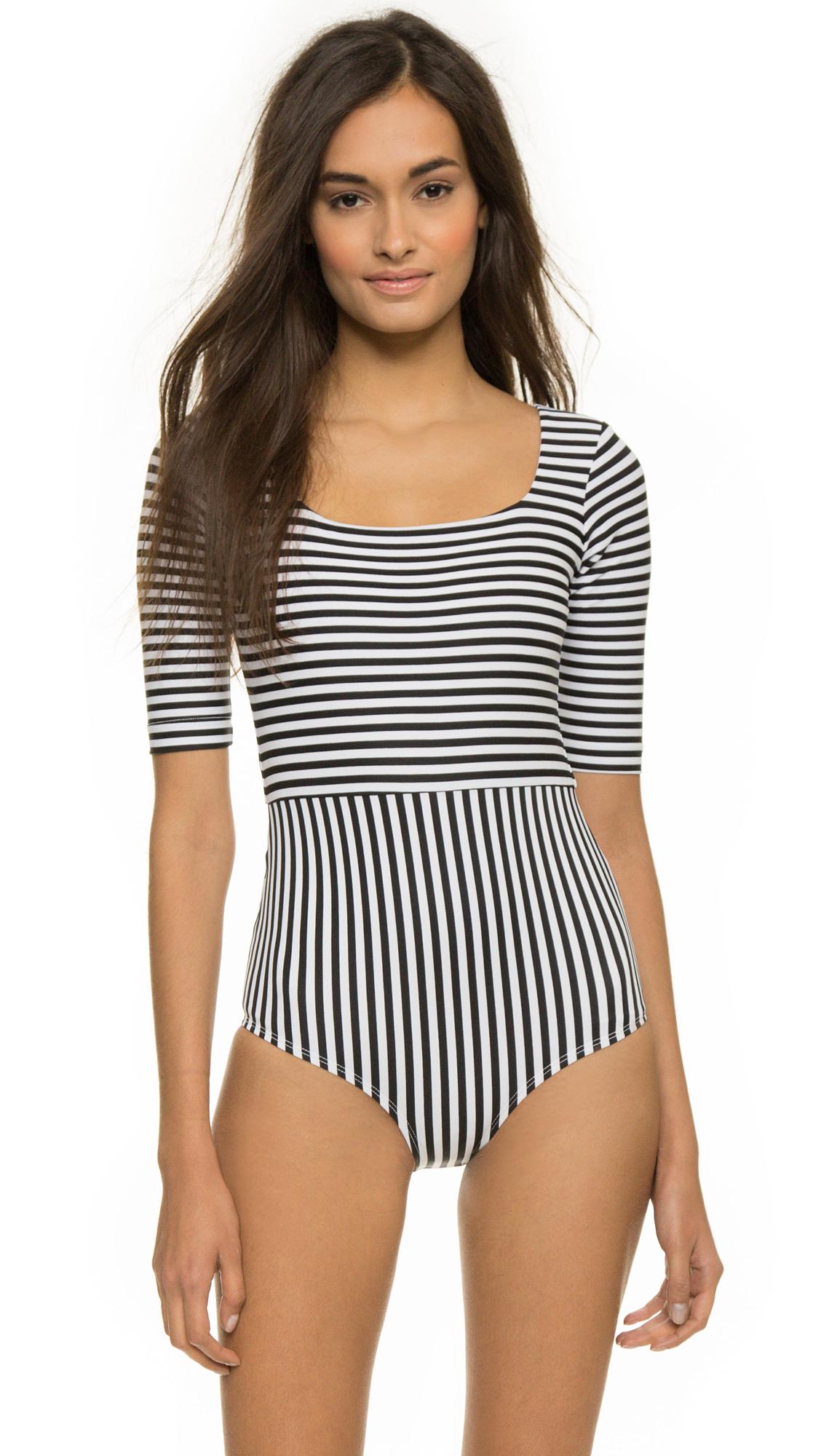 f63fd2ae341 Seea Zuma Swimsuit - Black Stripe in Black - Lyst