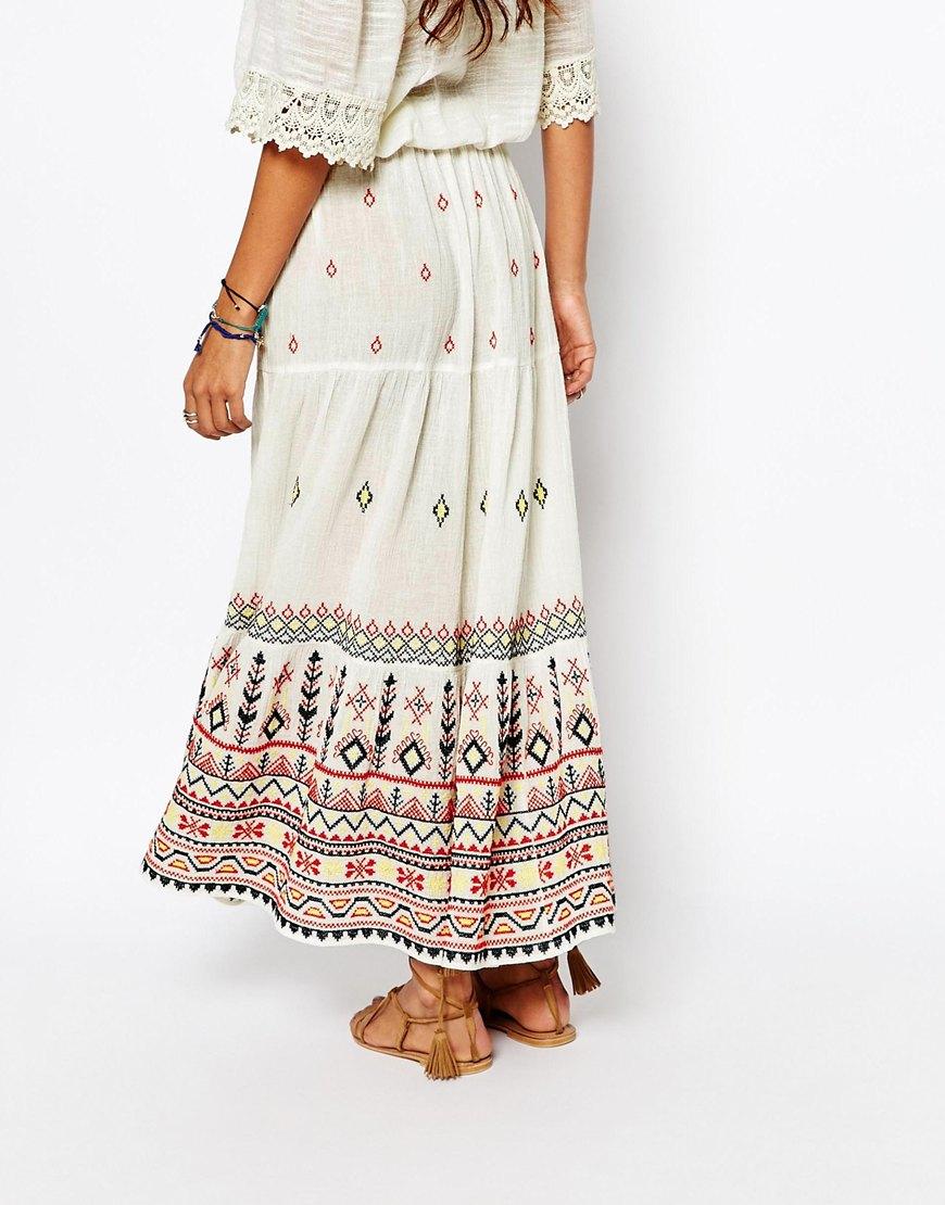 96605ee27 Star Mela Zella Embellished Maxi Skirt in White - Lyst