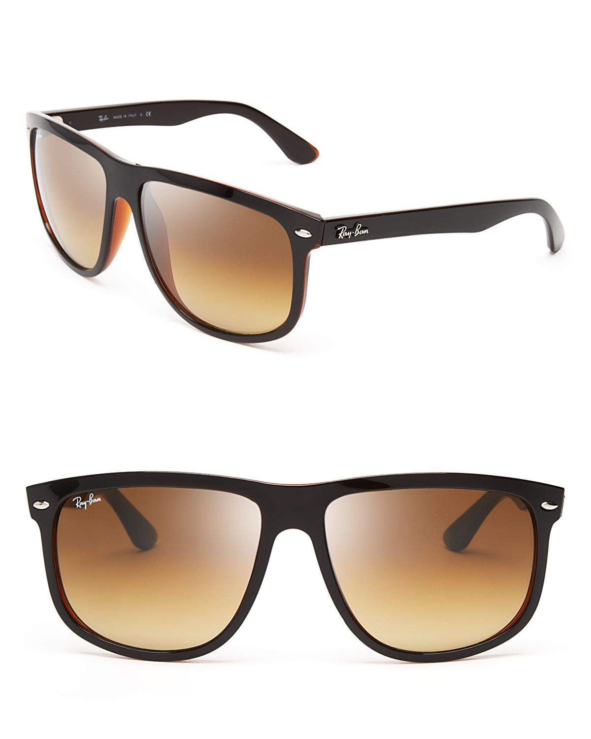 495807ae834 Lyst - Ray-Ban Highstreet Round Gradient Wayfarer Sunglasses in Black