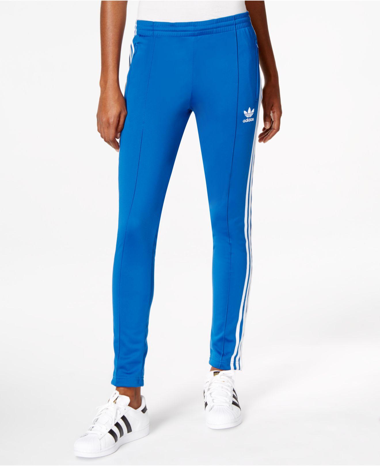 d7c4a947673a0 adidas Originals Supergirl Track Pants in Blue - Lyst