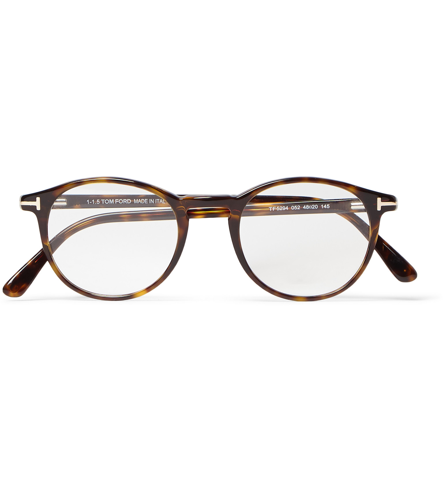 Tom ford Round-frame Tortoiseshell Acetate Optical Glasses ...