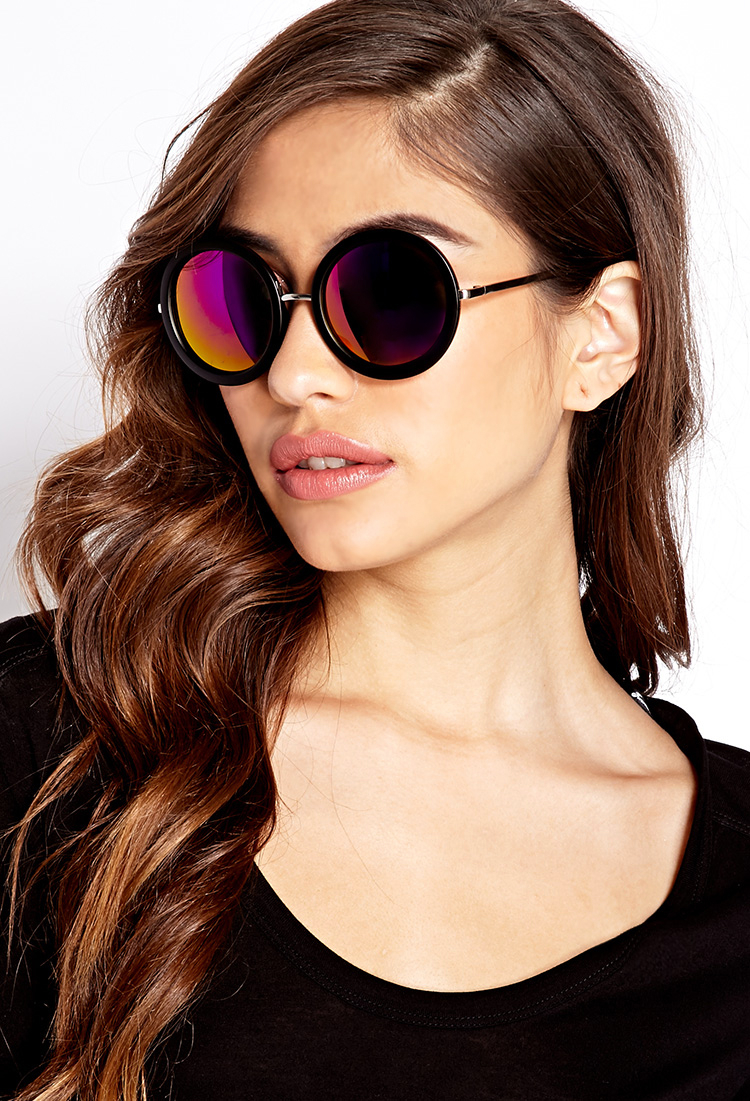 b22ab30d5be Lyst - Forever 21 Cool Girl Round Sunglasses in Pink