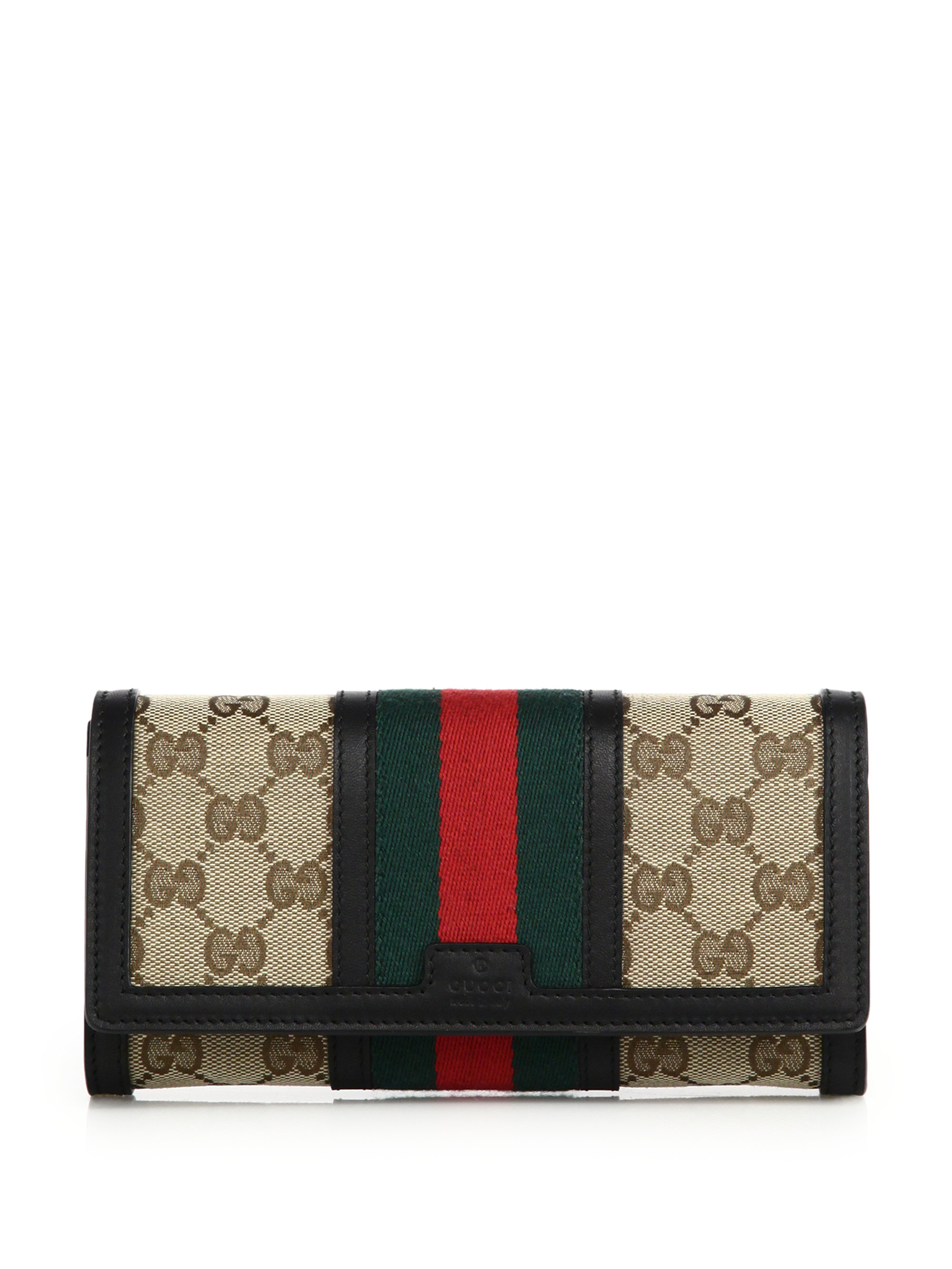 550461b83c0 Gucci Iconic Web & Gg Canvas Wallet in Black - Lyst