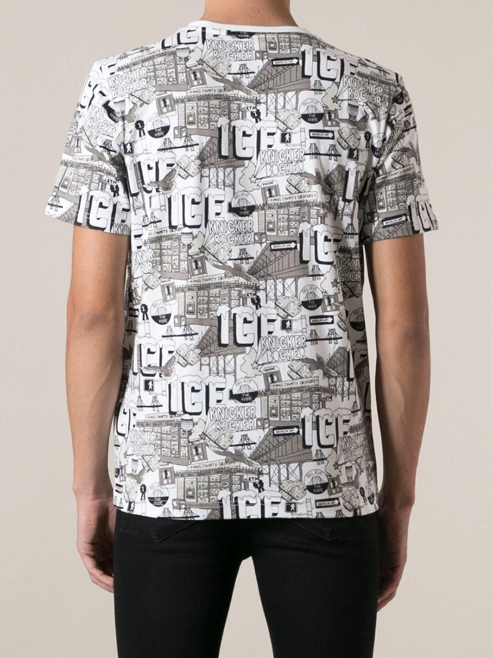 Lyst Puma Allover Print T Shirt In White For Men