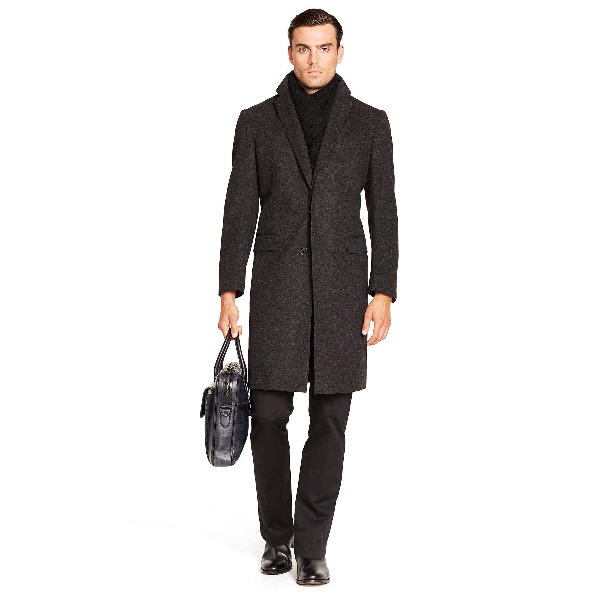 Ralph lauren black label Wool Chesterfield Topcoat in Gray for Men ...
