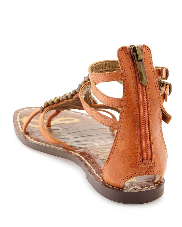 e3f95ba01a307 Lyst - Sam Edelman Ginger Studded Gladiator Sandal in Brown