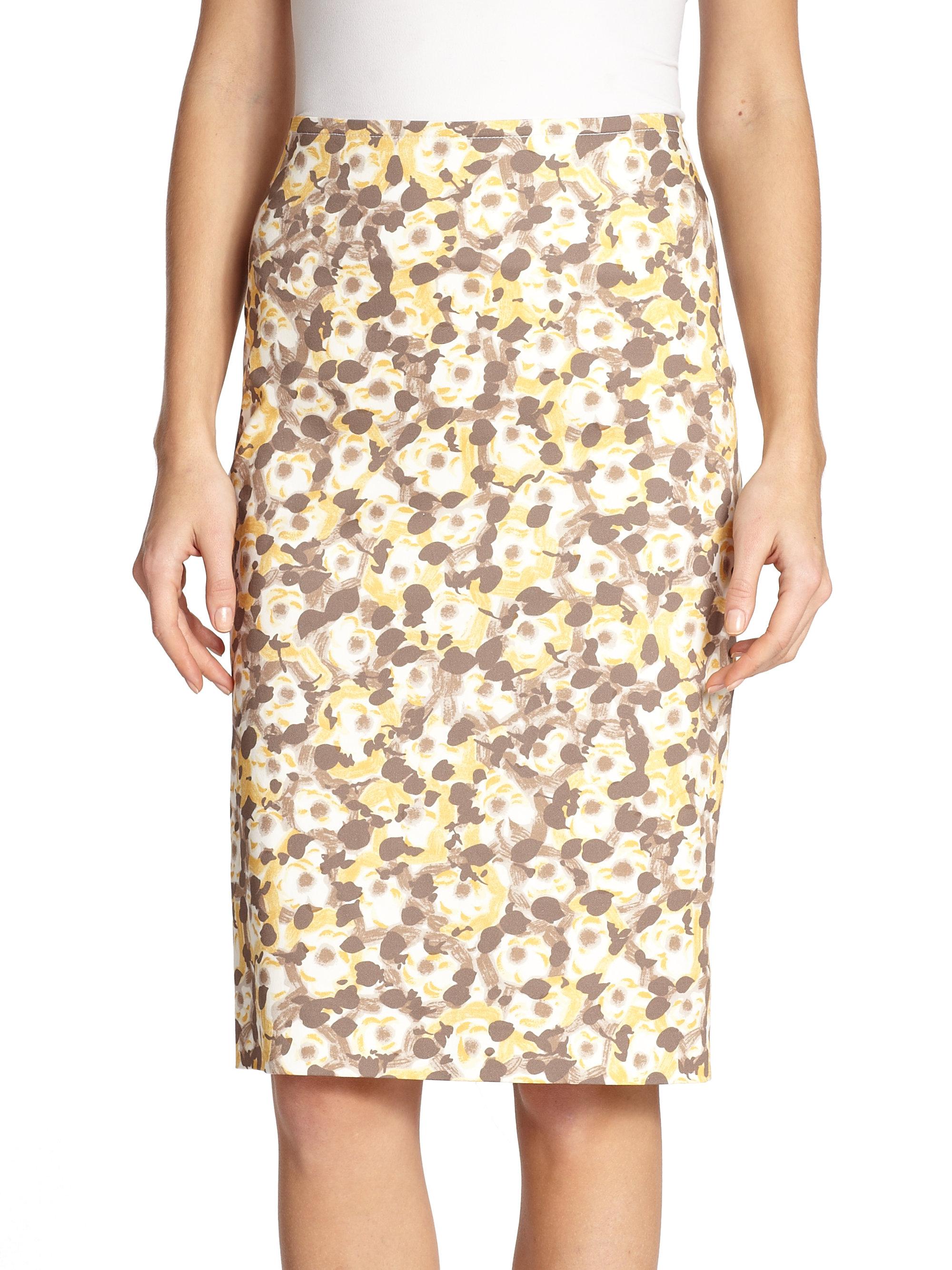 floral pencil skirt - photo #26