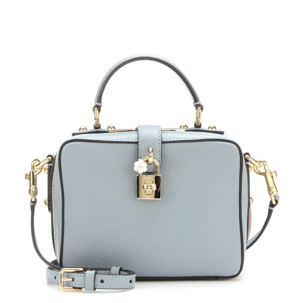 3fa87335a7 Lyst - Dolce   Gabbana Rosaria Leather Shoulder Bag in Blue