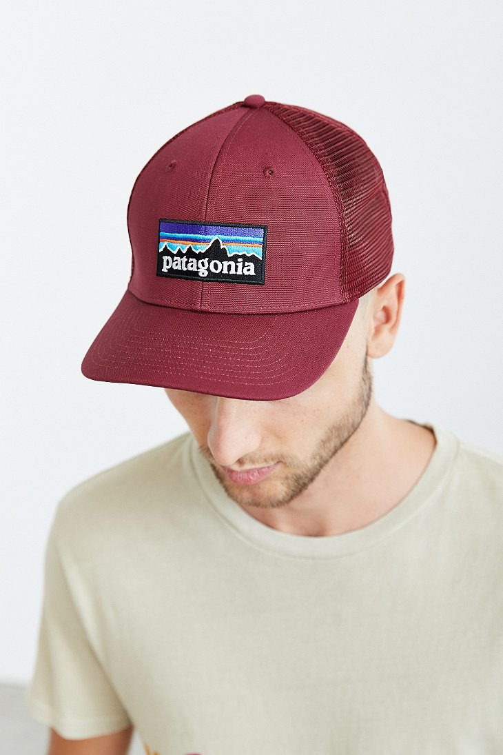 b504a01458 Patagonia P6 Trucker Hat in Red - Lyst