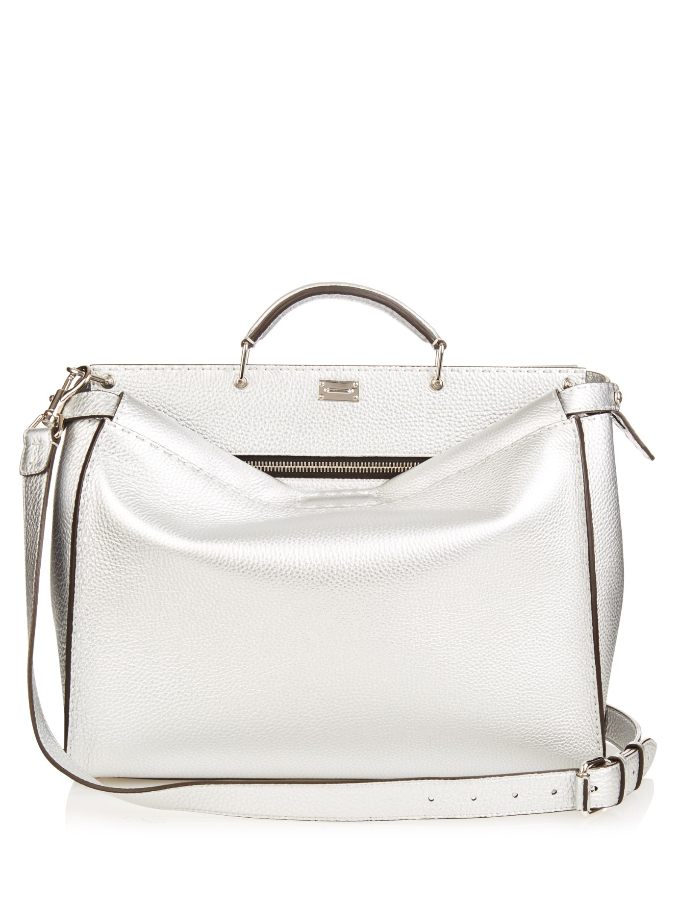 616114467a1 Lyst - Fendi Selleria Peekaboo Leather Weekend Bag in Metallic for Men