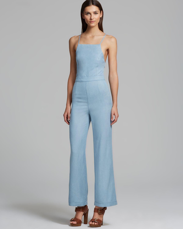 Lastest 2015 Rompers Women Jumpsuit Sexy Blue Pockets Slim Pants Bodysuit Sleeveless Jumpsuits Plus Size ...