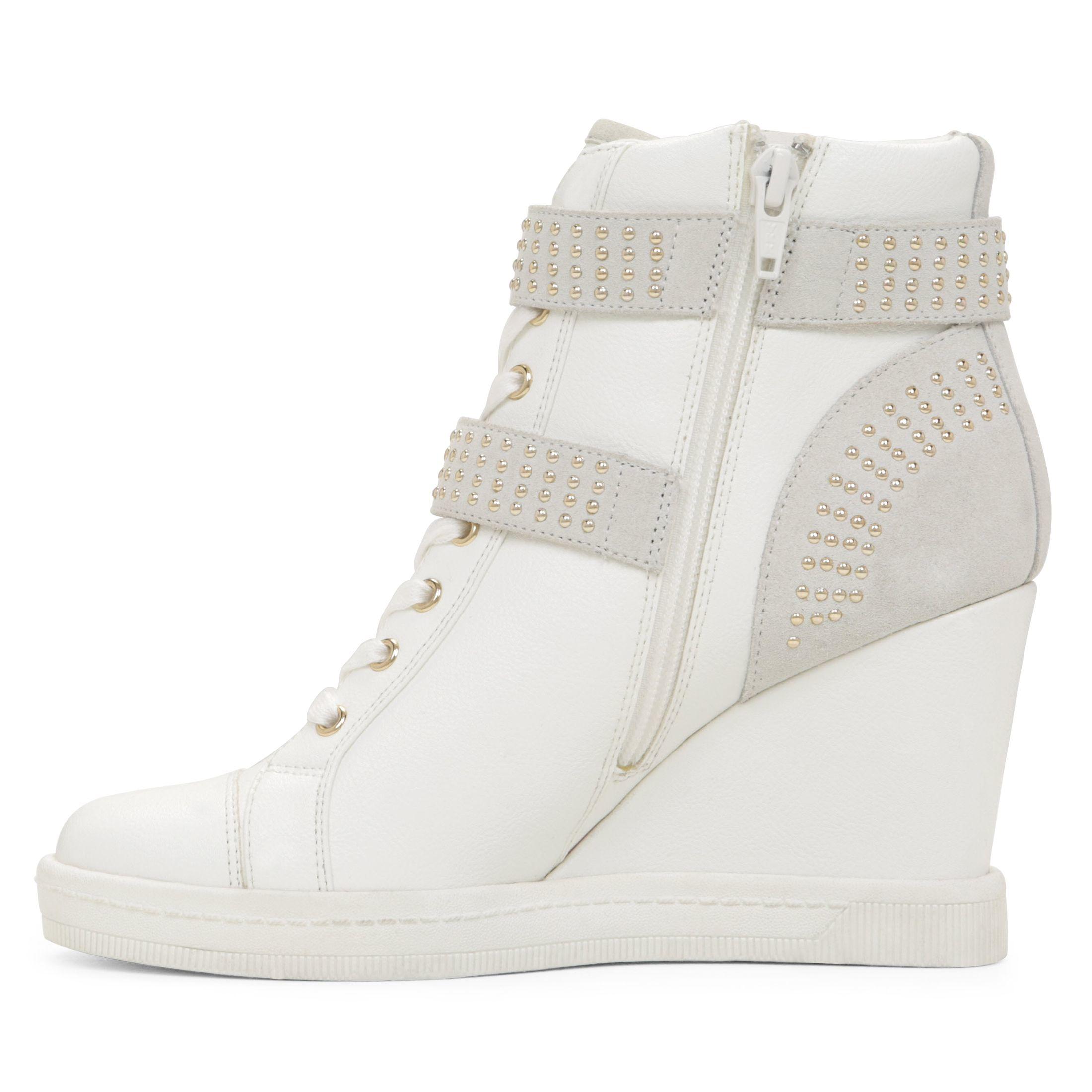 Aldo Verratti Wedge Sneaker in White | Lyst