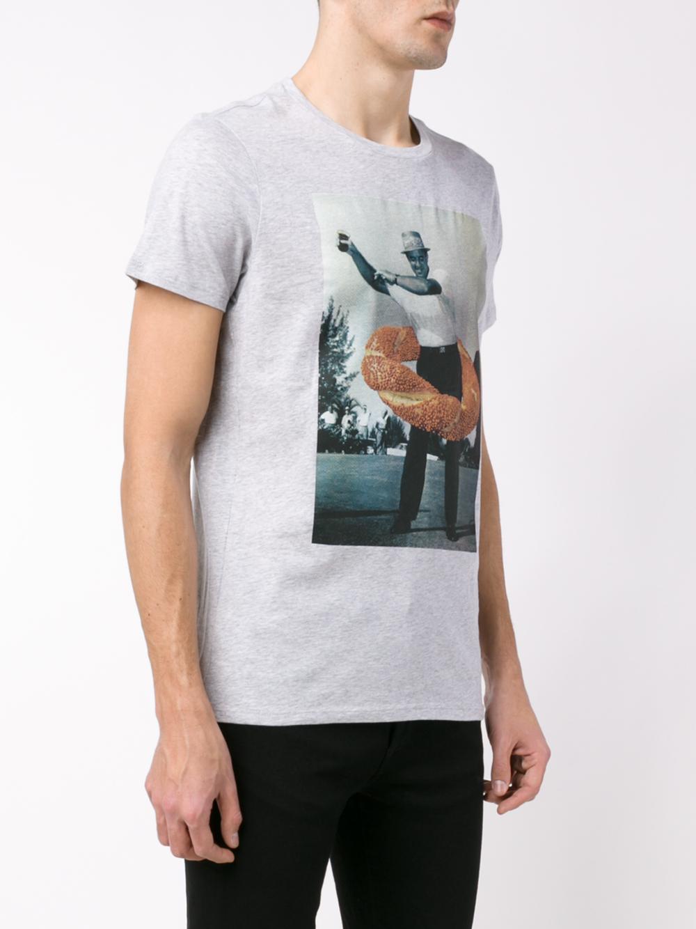 Les Benjamins Be Famous Or Die Cotton Jersey T: Les Benjamins Hulahoop T-shirt In White For Men