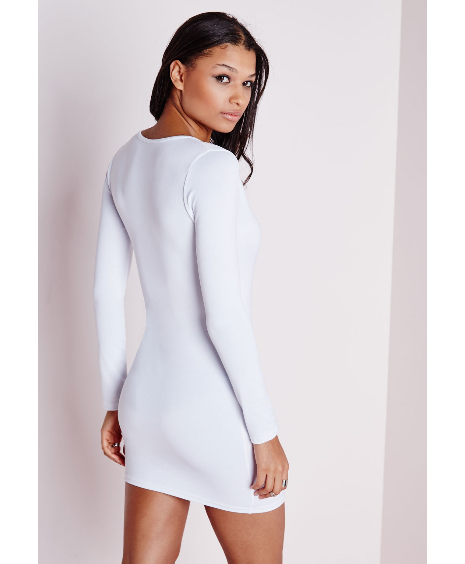 Long sleeve bodycon dress update white shakespeare's time