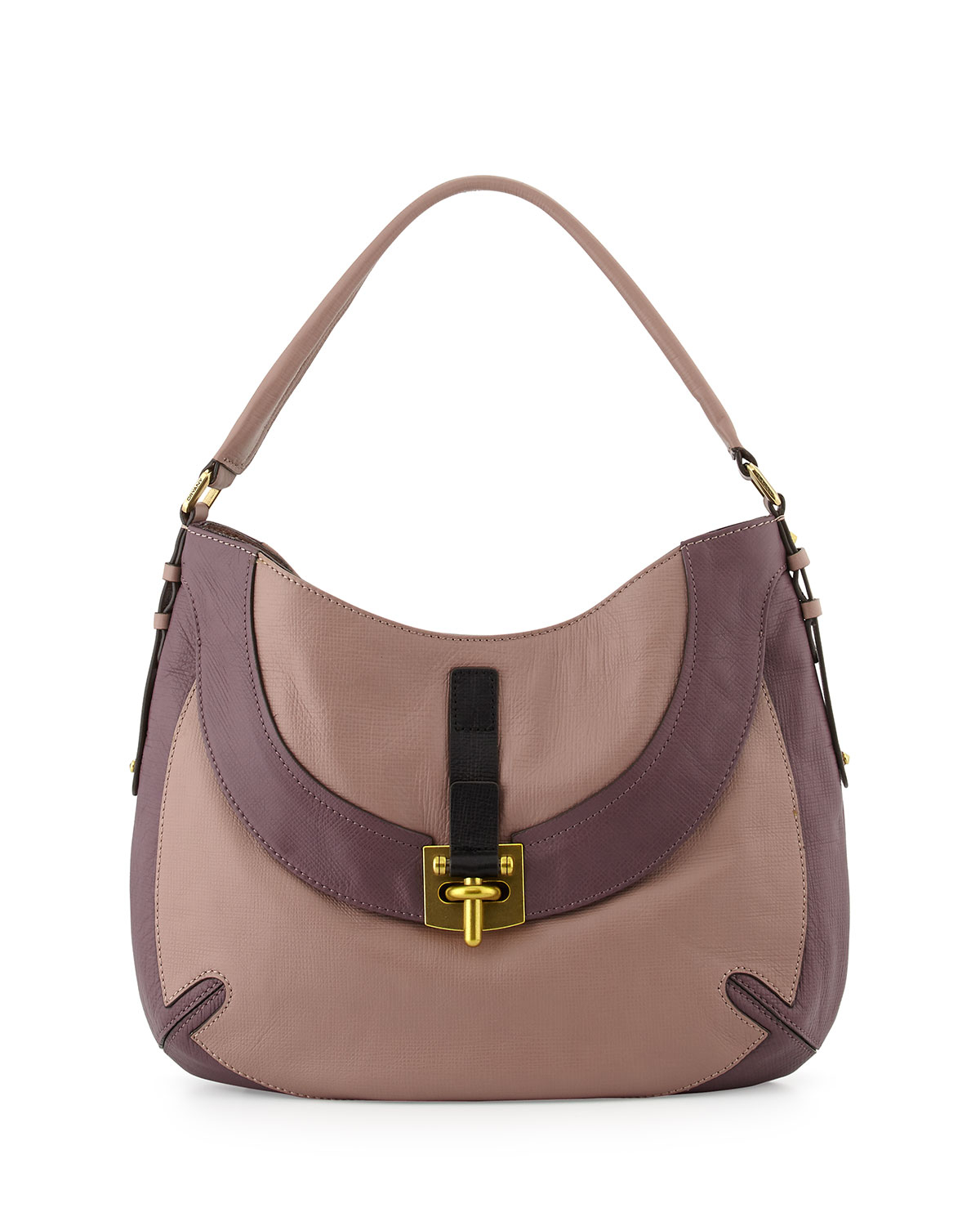 Oryany Bessie Colorblock Leather Hobo Bag in Brown  d849c7cd6604e