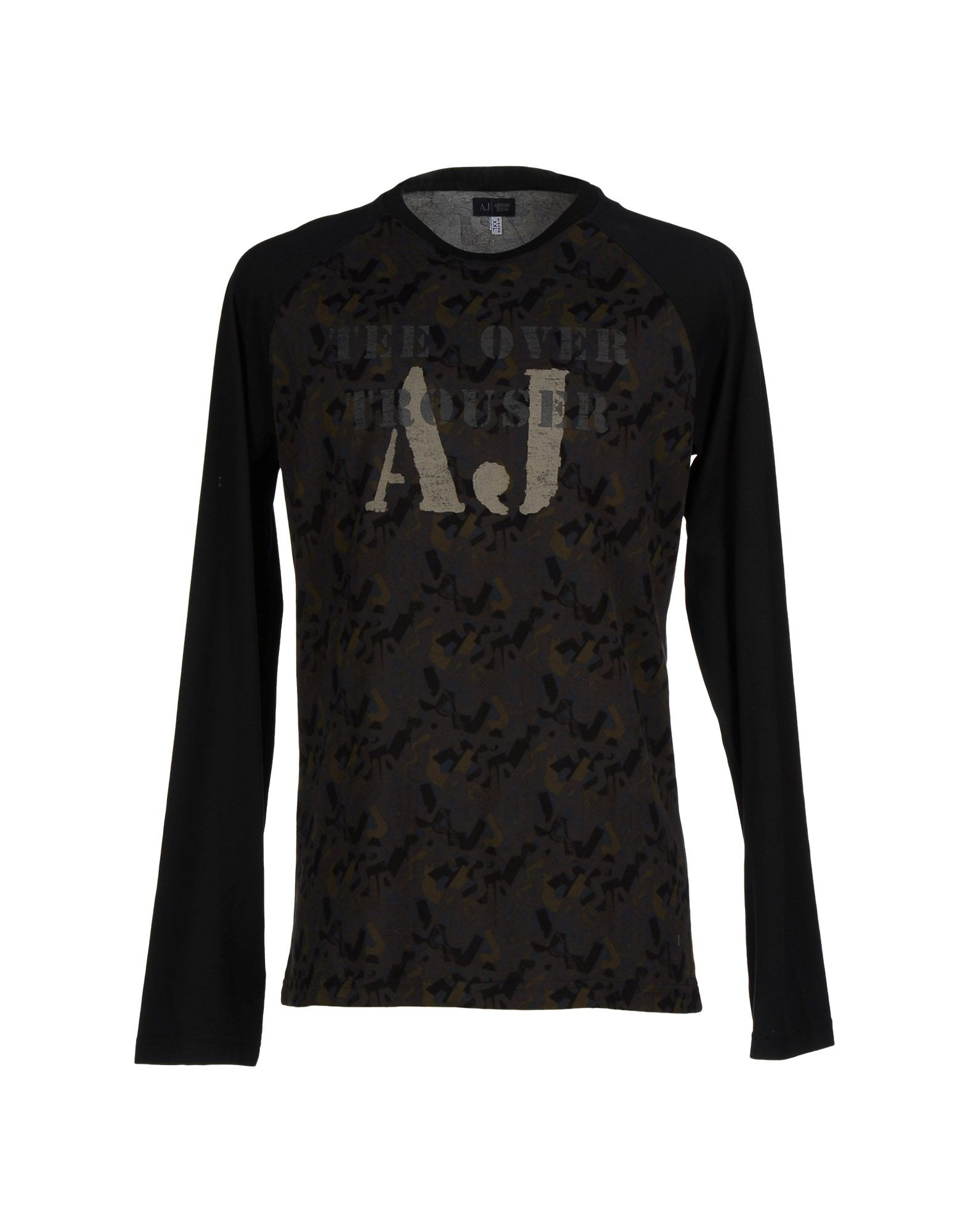 lyst armani jeans t shirt in brown for men. Black Bedroom Furniture Sets. Home Design Ideas