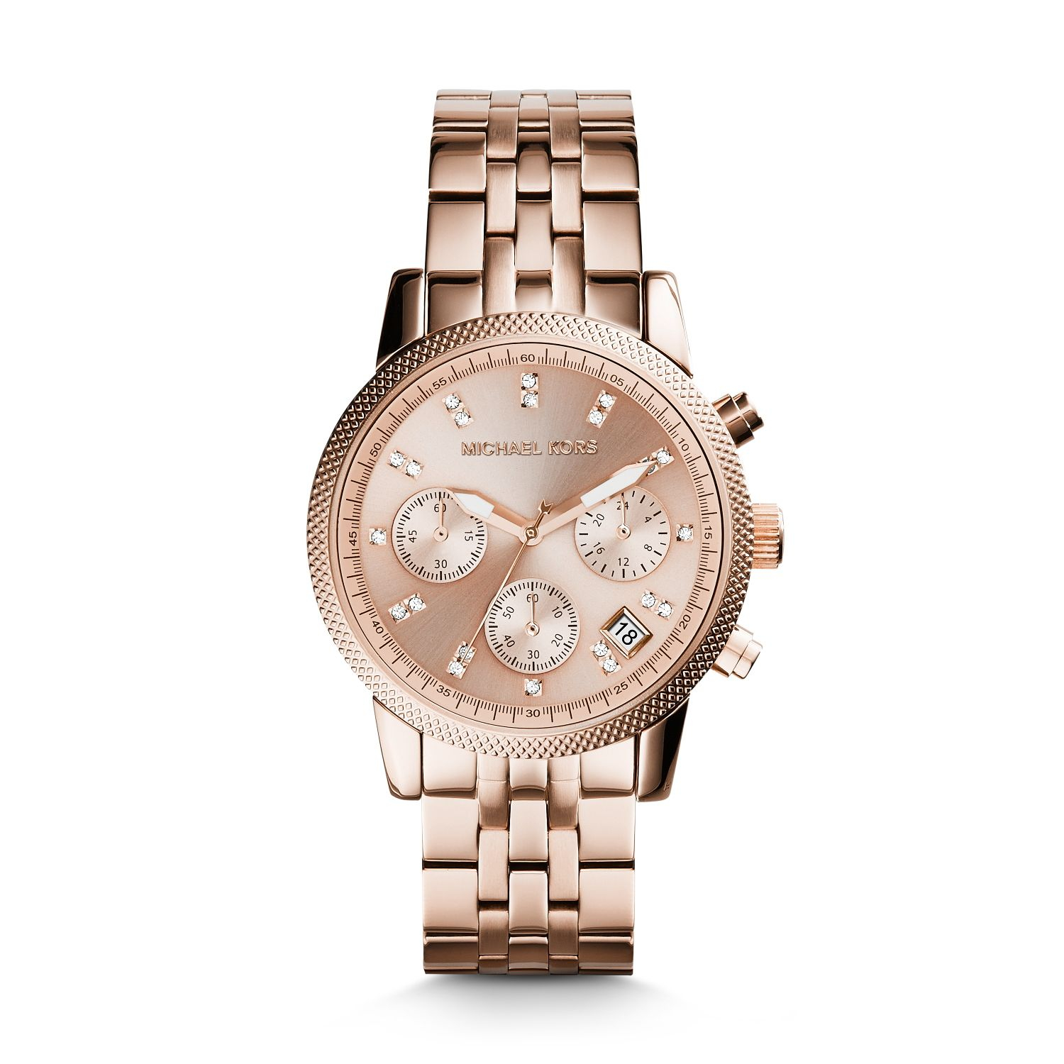 049b5f3cb Michael Kors Ritz Rose Gold-tone Watch in Pink - Lyst