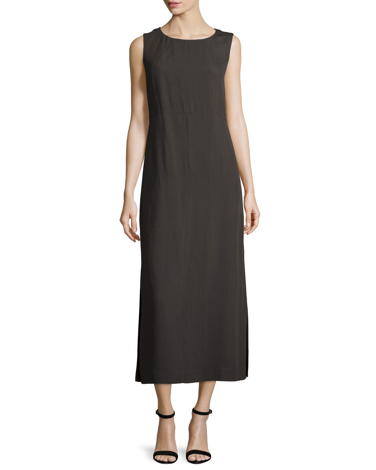 Lafayette 148 new york gyldan sleeveless midi dress in for New york and company dress shirts