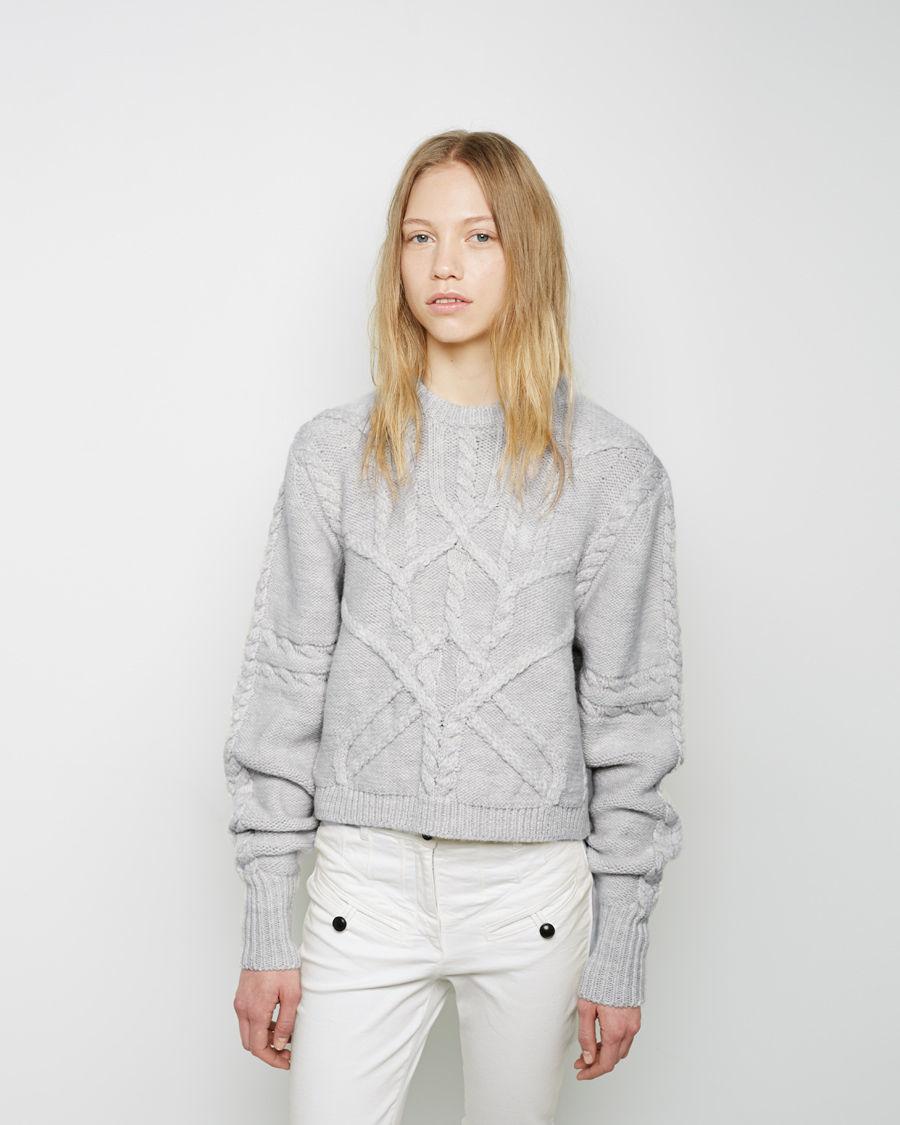 isabel marant denver zermatt pullover in gray lyst. Black Bedroom Furniture Sets. Home Design Ideas