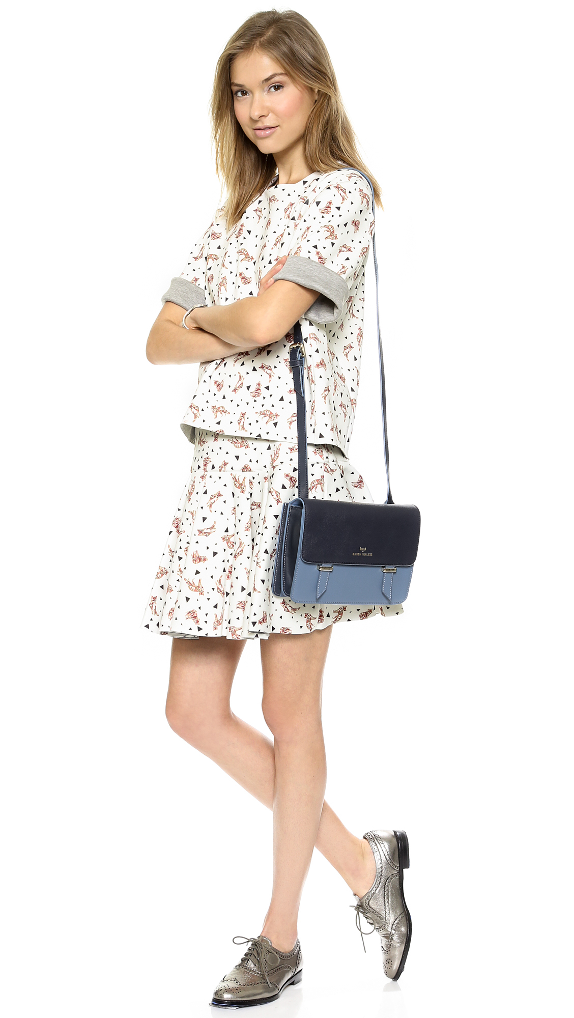 c3f7365139c Karen Walker Sloane Cross Body Bag Bluemidnight in Blue - Lyst